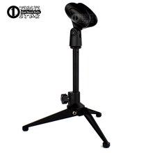 Metal Adjustable Desktop Mic Stand Table Tripod Wireless Microphone Holder Desk Mike