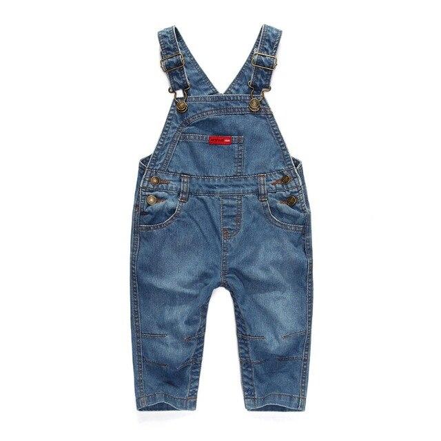 Retail Fashion Baby boy  jeans denim pants Suspenders trousers for children kids jeans Kids trousers bib overalls J082