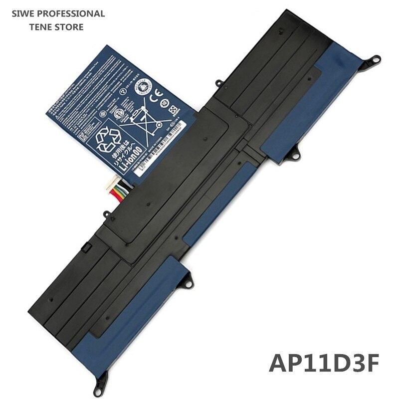 Nouveau véritable batterie d'ordinateur portable d'origine ap11d3f pour pour acer aspire ultrabook s3 ass3 ms2346 s3-951 s3-391 ap11d3f ap11d4f batterie