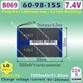 [ B069 ] 7.4 v, 14000 mah, [ 6098155 ] PLIB ( bateria de iões de lítio polímero / LG celular ) Li - ion para tablet pc, Gps, E - book, Capa