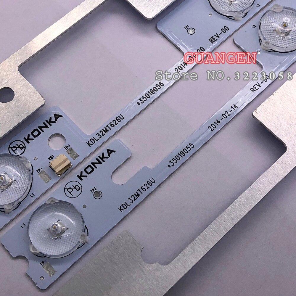 20pcs lot LED strips bar lights working for KDL32MT626U 35019055 35019056 10PCS 4LED 10PCS 3LED 1LED