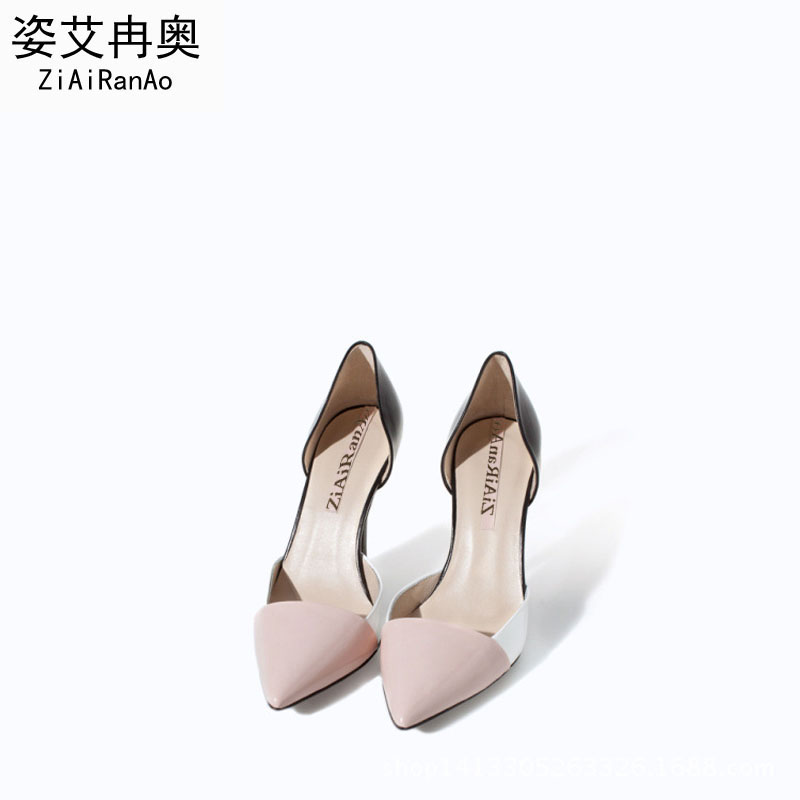 Eur Fashion Summer Style Sandals Patch Pointed Toe Shoes Woman Hollow 9CM High Heels Party Women Pumps Sandal Free Shipping 2016 hot sale women sandals tassel design women pumps fashion style open toe square heels women summer shoes free shipping