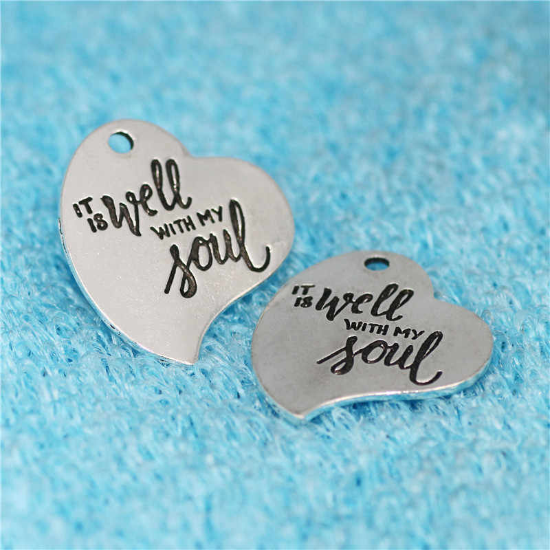 Top Quality 10 PiecesLot Diameter 23mm I/'m Hooked On You Round Disc Charms for Jewelry Making