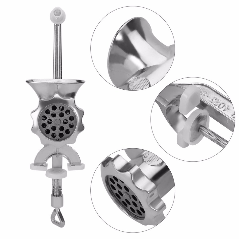 Household Manual Meat Grinder Grinding Machine Family Use Meat Sausage Filler Machine Twist Filling Garlic Cutter Aluminum Alloy hand operated meat grinder beef noodle sausages maker household manual meat grinding machine