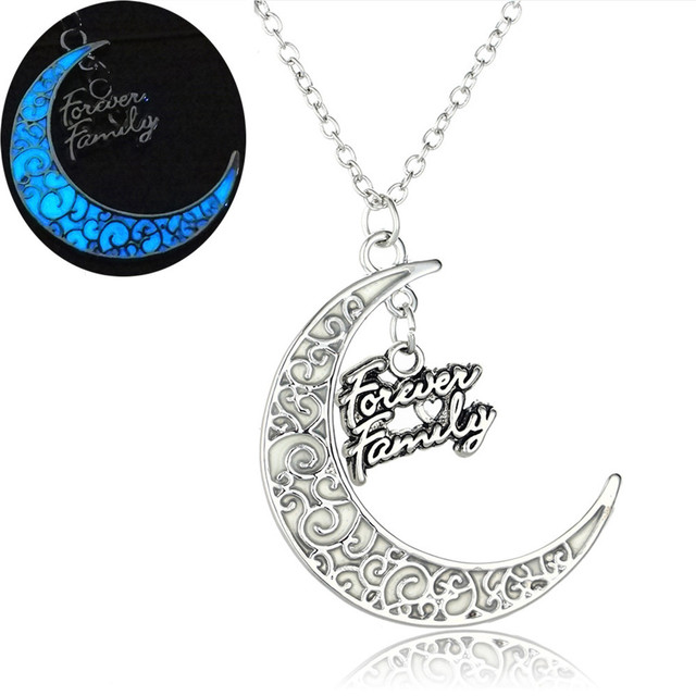 Mixed design moon mum luminous charms pendant necklace wholesale mixed design moon mum luminous charms pendant necklace wholesale gift fluorescent glow in dark jewelry for aloadofball Images
