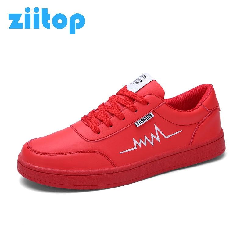 Prix pour Ziitop 2017 Hommes Planche À Roulettes Chaussures Hommes En Plein Air Sneakers Hommes Lumière PU En Cuir Appartements Chaussures de Marche Chaussures Hommes Doux Formateurs Laceup