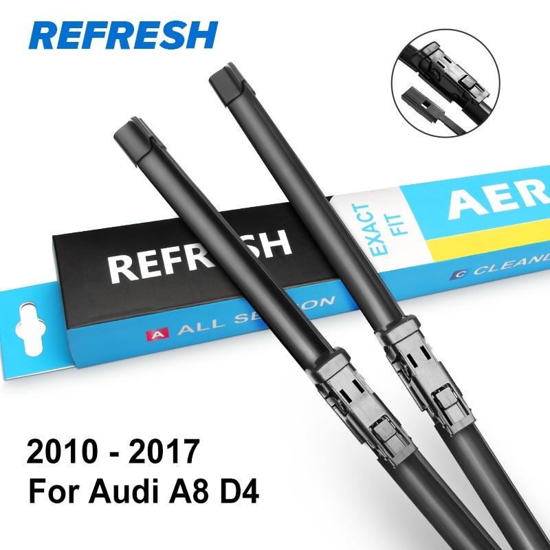 REFRESH Щетки стеклоочистителя для Audi A8 D2 / D3 / D4 Подходящие рукоятки крюка / ползунковые рычаги / кнопки с 1994 по год - Цвет: 2010 - 2017 ( D4 )