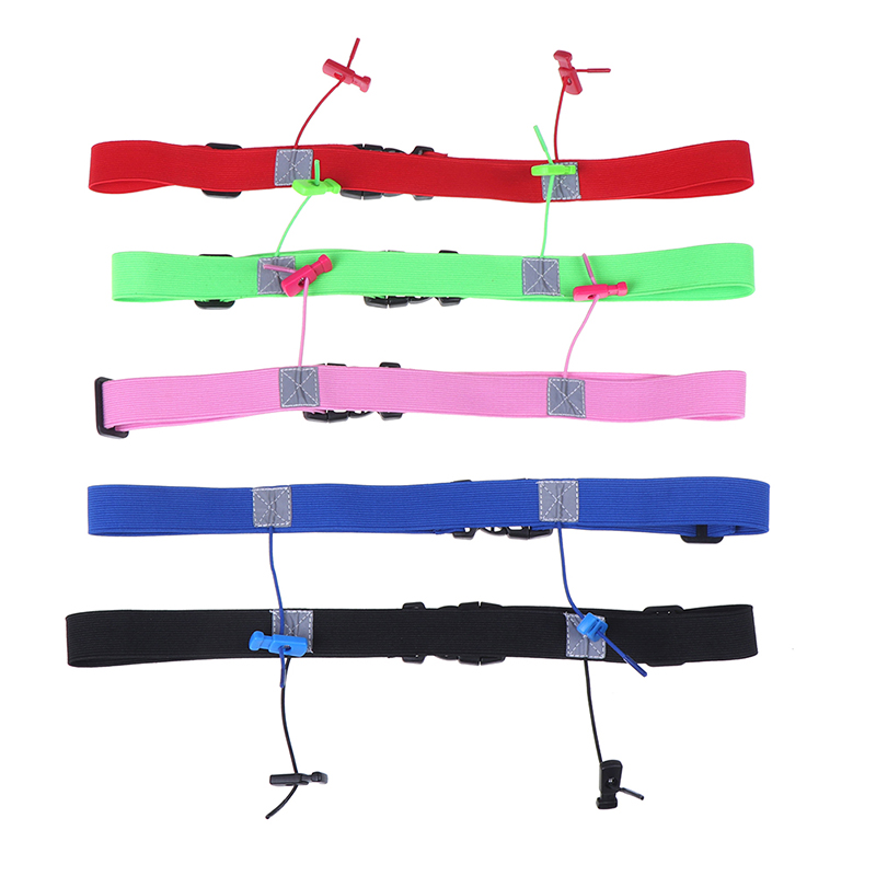 1PC Unisex Running Race Number Belt Waist Pack Bib Holder For Triathlon Marathon Cycling Motor With 6 Gel Loops