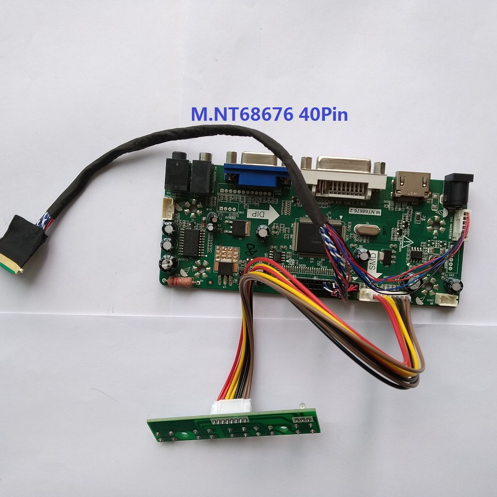 "For B101AW02 V3 Controller kit VGA HDMI Driver board Panel Screen 10.1"" DVI LVDS monitor Card LCD LED 1024X600"