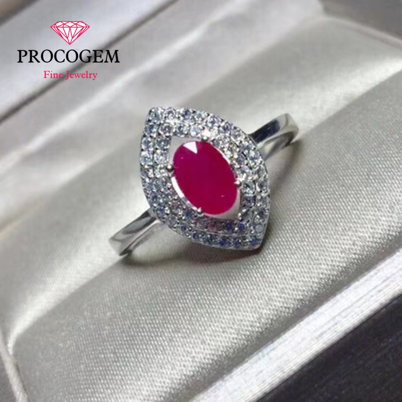 Trendy Natural Ruby Rings for Women Engagement Anniversary gifts 0.60Ct Genuine Gemstones Fine jewelry 925 Sterling silver #349Trendy Natural Ruby Rings for Women Engagement Anniversary gifts 0.60Ct Genuine Gemstones Fine jewelry 925 Sterling silver #349
