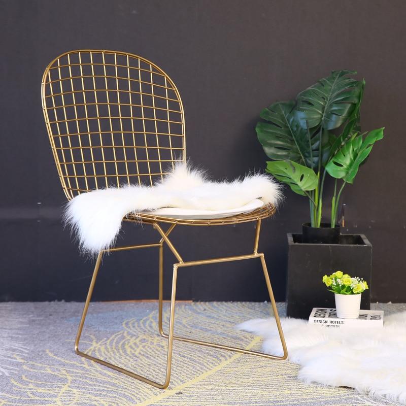 Café Furniture Furniture Responsible Fashionwrought Iron Bar Chairs Coffee Shop Chair Restaurant/bar Stool High Bar/counter Chair Metal Stool Multicolor Optional