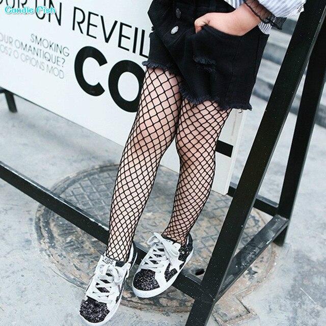 b414c7c6e1d Fashion fishnet stockings children pantyhose thin section of girls leggings  with the same black fishnet stockings
