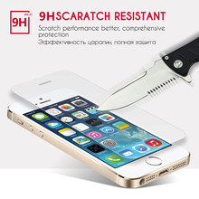 Protector glass on the for iphone 5 screen protective on tempered glass if film case caver for iphone 5 6 S 7 8 X SE plus glass(China)