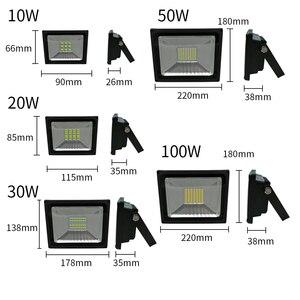 AC 220 V 230 V 240 V LED الهندسة ضوء 10 W 20 W 30 W 50 W 100 W الاضواء الكاشفة مصباح للماء IP65 عاكس الصمام الخارجي أضواء العمل