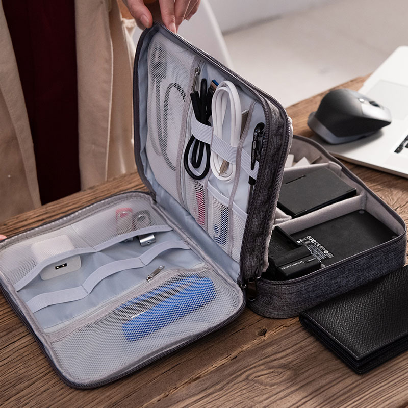 Travel Digital Makeup Cable Charger Bags Headphones Gadget Organizer Pouch Women's Wires USB Electronic Storage Box Accessories