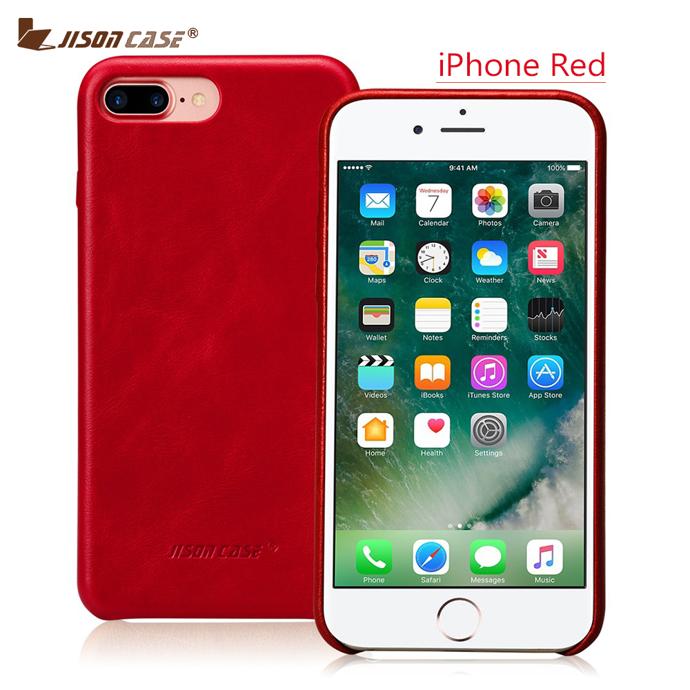 Jisoncase Genuine Leather Case for iPhone 7 Plus 5 5 inch Slim Protective Cover for iPhone
