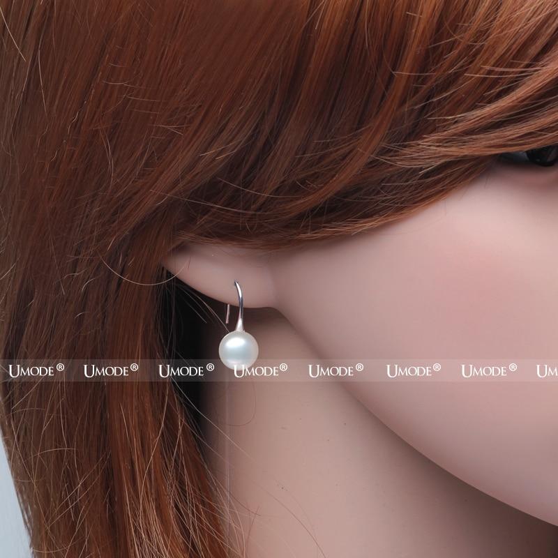 UMODE Mote ekte naturlig ferskvann perle øredobber 925 sterling - Fine smykker - Bilde 3