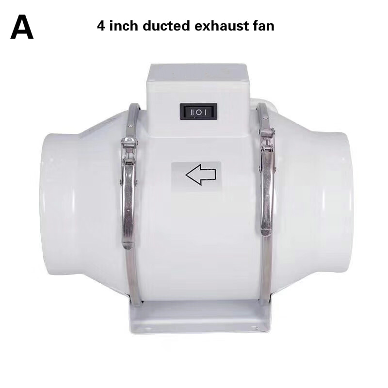 4 100mm exhaust fan duct booster fan ventilation extractor fan fume exhaust hood exhaust pipe for kitchen bathroom air cleaning