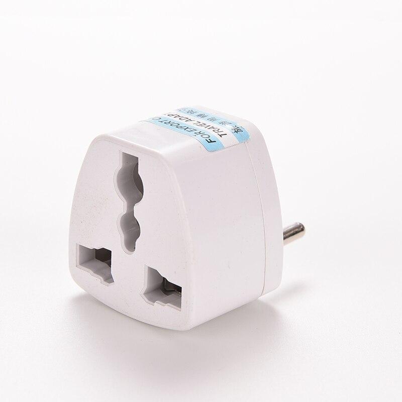 1PCS Universal EU USA UK Plug Adapter European  Chinese Power Socket White Travel Converter Conversion Plug