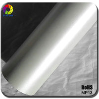 2016 Top Quality Matte Chrome Car Wrap Vinyl White car wrapping for Car Decoration Stickers