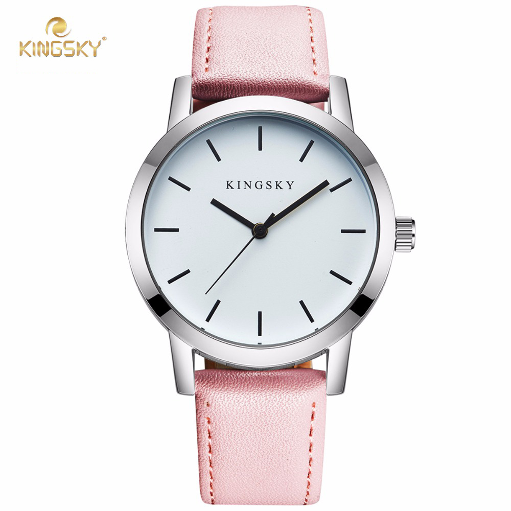 KingSky Hot selling Ladies Watches Brand Bracelet watch leather strap fashion Casual Womens Quartz watch Hodinky