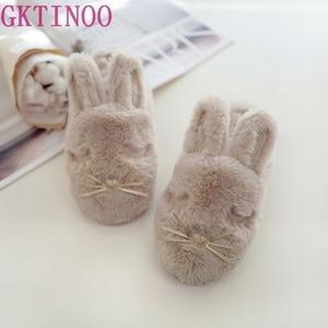 Image 1 - Женские домашние тапочки, теплая зимняя Милая домашняя обувь, комнатная обувь для взрослых, девочек, Дамская обувь на мягкой плоской подошве