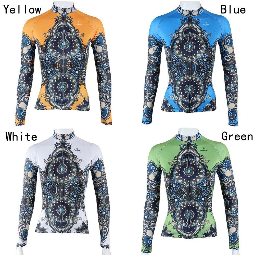 Nové poštovné zdarma Kaleidoskopické vzory Ženy Cyklistické oděvy s dlouhým rukávem Prodyšné Ciclismo Ropa Čtyřbarevné oblečení pro cyklisty