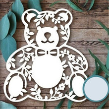 GJCrafts Bear Animal Dies Metal Cutting for Scrapbooking Die Cut Stitch Craft Troqueles New 2019 Stencil