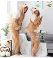 Unisex winter pajamas suits thick warm monkey hooded sleepwear sets animal soft flannel lovers cartoon hot home clothes 1120