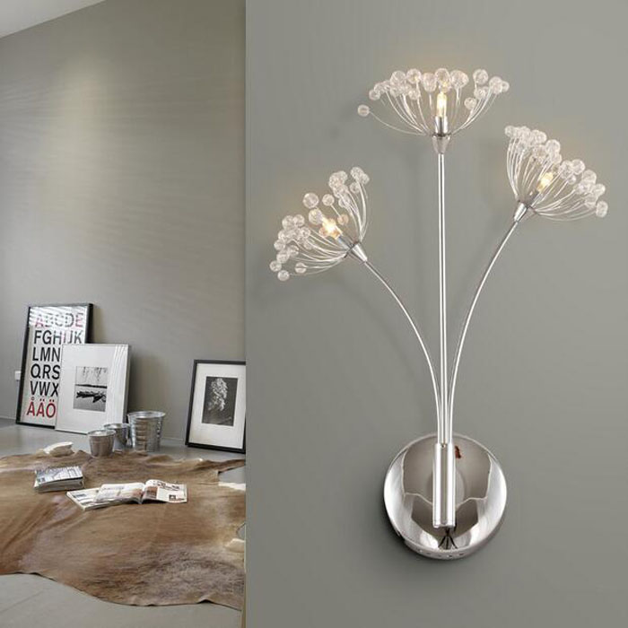 ZYY Modern Creative Dandelion Crystal LED Wall Lamp for Living Room Bedside Lamp Bedroom Stairs European Warm Wedding Lighting modern fashion creative k9 crystal wifi design led 9w wall lamp for living room bedroom aisle corridor bathroom 80 265v 2063