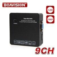 Сверхкомпактный сетевой видеорегистратор 9CH 8CH H.265 ONVIF CCTV IP Камера 4CH 1080 P воспроизведения сетевое видеокамера наблюдения 8-канального сетево...
