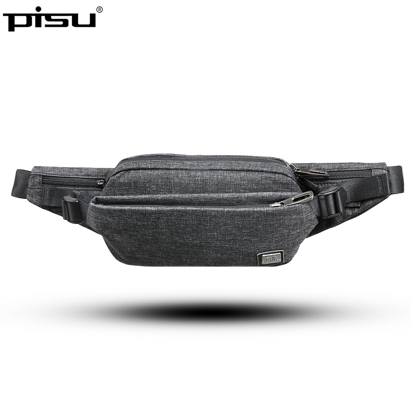 PISU waist bag for men fashion waist pack purse phone belt bag travel waist bag case for mobile phone bum hip bag