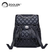 ZOOLER Brand leather bags wo backpack elegant black girls school backpack large capacity women bags travel bolso mujer #LT202