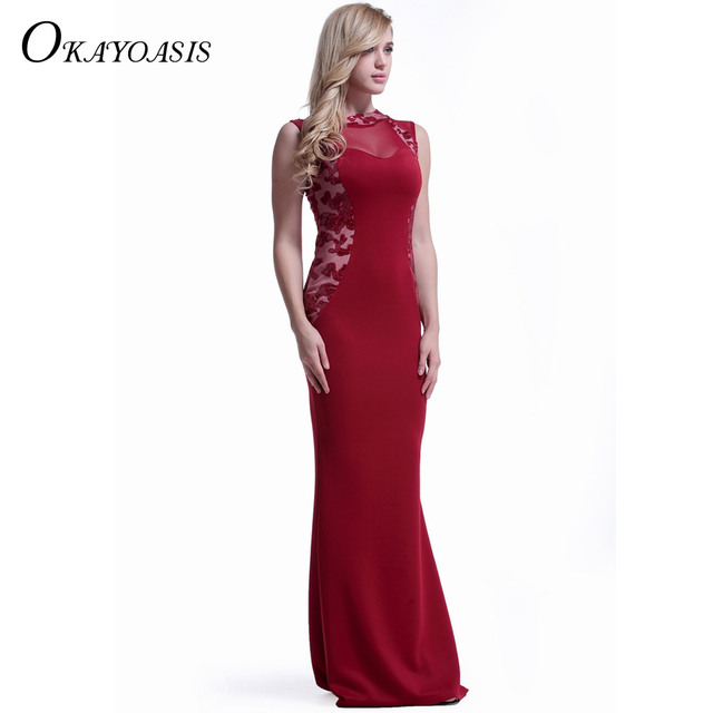 afe80be3dafa OKAYOASIS High Quality Women Elegant Sequined Formal Party Special Occasion  Dress Women Sexy Bodycon Long Maxi Dress