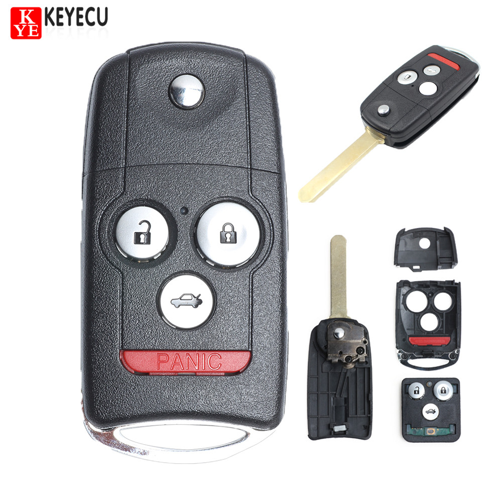 Keyecu New Brand Remote Key Fob 3+1 Button 313.8MHz ID46