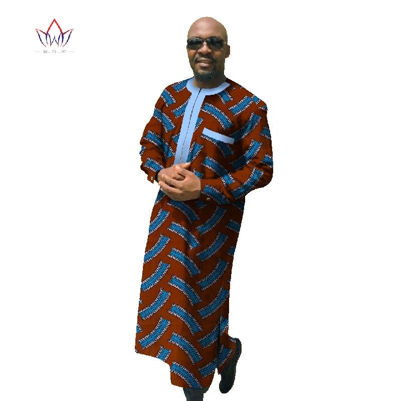 2017 Africain Imprimer Dashiki Pour Hommes Plus La Taille Africain - Vêtements nationaux - Photo 4