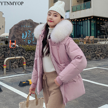 YTNMYOP Winter Womens Clothing 2019 New Casual Parka Female Thick Warm Hooded Jacket Coat Regular Outerwear