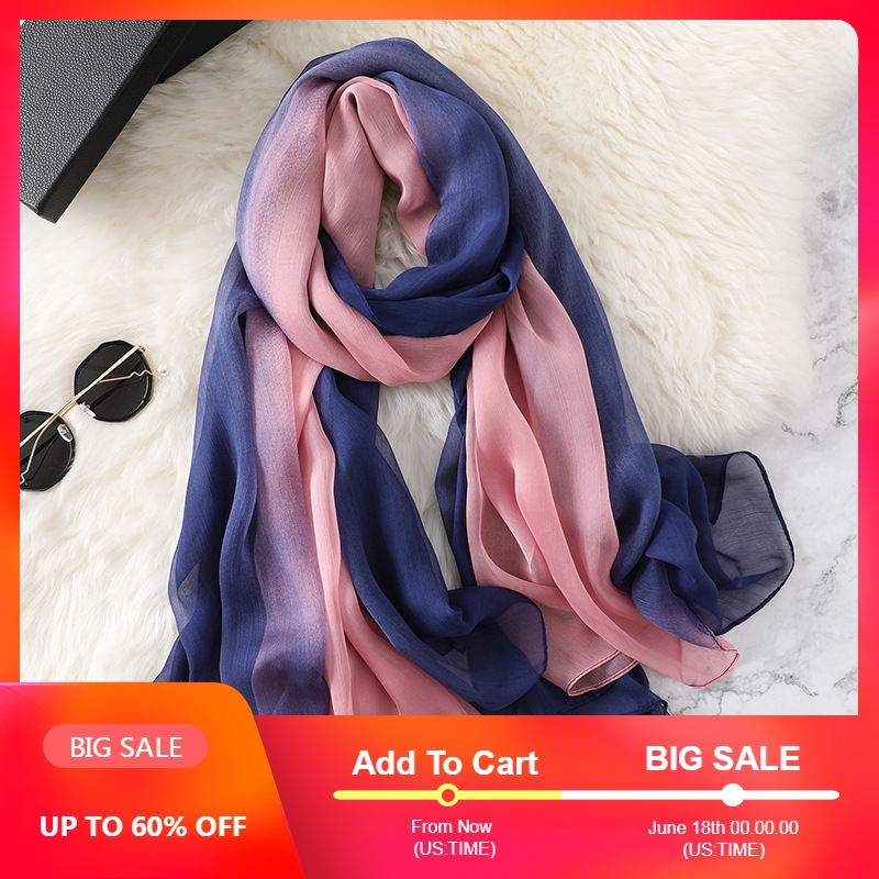2019 spring scarf for women sunscreen outdoor shawls and wraps silk scarves print soft large size pashmina bandana hijabs