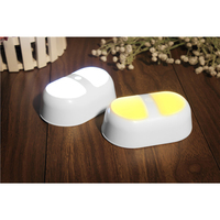 3pcs/Set Intelligent Double Window Light Body Sensor Energy Saving Cabinet Wardrobe Pathway Lamp Baby Sleep Night Light