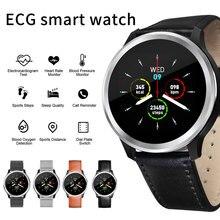 Reloj de pulsera inteligente E18, resistente al agua, con control de la presión sanguínea, PPG y ECG para Android, reloj y Smartphone
