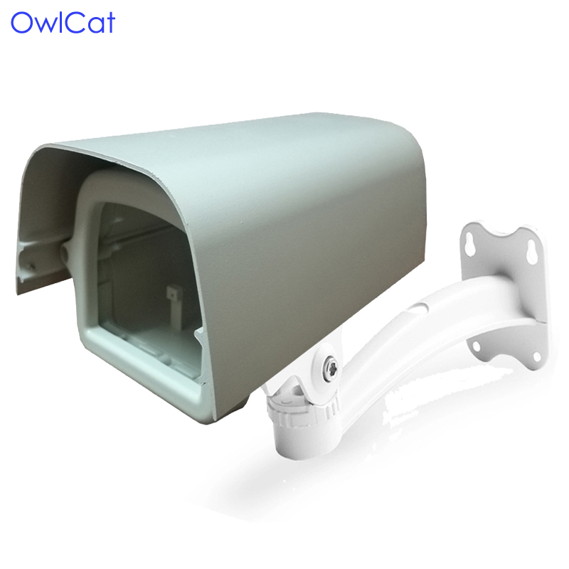 OwlCat Indoor Outdoor House CCTV Camera Housing Protect Case with Bracket Clear Glass Window Video Surveillance Security Camera цена