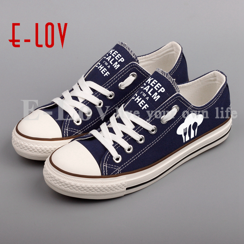E-LOV Graffiti Print Keep Calm Canvas Shoes Low Top Women Girls Outdoor Casual Walking Shoe Customized Valentine Gifts brand quality the walking dead canvas shoes printed women casual flat shoes diy couples and lovers valentine gifts graffiti shoe