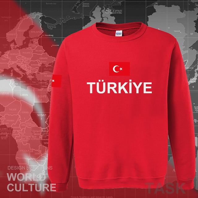 Turkey 2017 hoodies men sweatshirt sweat new hip hop streetwear clothing jerseys tracksuit nation Turkish flag fleece Turks TR 2