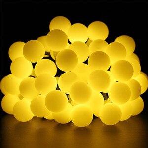 Image 4 - 10M 100 LED lampy słoneczne girlanda żarówkowa LED lampki Garland boże narodzenie lampy słoneczne na ślub dekoracja na przyjęcie ogrodowe na zewnątrz