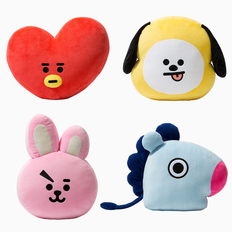 New Kpop Bangtan Boys Bts Bt21 Vapp Same Pillow Plush Cushion Warm Bolster Q Back Soft Stuffed Doll 25 Cm Tata Cooky Chimmy Strong Packing Costume Props Novelty & Special Use