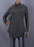Cashmere Wool Sweater Women Fall Lady Gray Skye Blue Pullover sweaters Rabbit Fur High Quality Clearance Sale Free Shipping