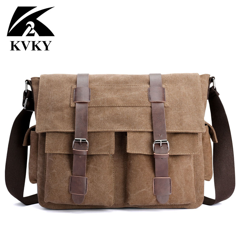 Men Canvas Messenger Bags Designer Brand Vintage Crossbody Bags Laptop Bags Casual Male Handbags Satchel Shoulder Bags Briefcase augur canvas leather men messenger bags military vintage tote briefcase satchel crossbody bags women school travel shoulder bags
