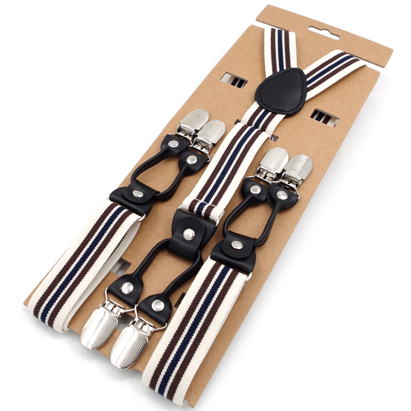 6343806c5 Best buy New Arrival Casual Leather Y Back Striped Elastic Suspender Women  s strap trousers 6 Clips Wedding Braces 2.5cm 120cm MBD8692 online cheap