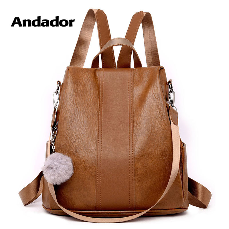 Anti-Theft Backpack Larger-Capacity Vintage School Women Shoulder-Bag Female Casual New-Fashion