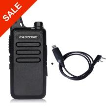 Zastone ZT-X6 Professional Long Range Walkie Talkies Mini UHF Handheld Radios Portable Two Way Ham Radio + Programming Cable